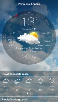 Datos proporcionados por la aplicación Tiempo En Vivo: #weatherlive