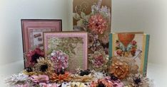 a Cut at Home  Design Team Project         Today I want to share another of my passions with you, creating flowers from stamps and dies. T...