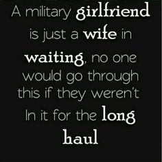 So true on every level of a military relationship. army girlfriend ♥ So true on every level of a military relationship. army girlfriend ♥ More from my site Nametape Bow Keychain in Army OCP Marine Girlfriend Quotes, Proud Army Girlfriend, Air Force Girlfriend, Deployed Boyfriend, National Guard Girlfriend, Marine Boyfriend, Coast Guard Girlfriend, Bf Bf, Marine Quotes