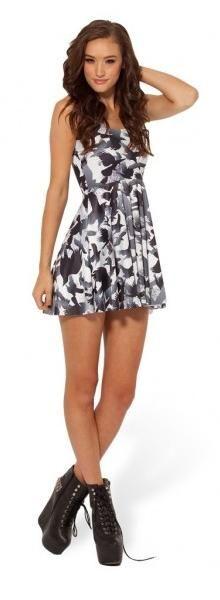 Cheap Black Milk Dress Raven Reversible Skater Black Milk Dress