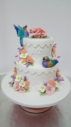 Purple breasted roller - Cake by Tascha's Cakes Retirement Cakes, Spring Cake, Fondant, Cake Decorating, Decorating Ideas, Pretty Cakes, Amazing Cakes, Frosting, Compliments