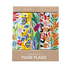 A sweet but striking collection of floral pages, the Playful Posies Page Flags will bring a bright touch of color to your pages!   375 adhesive page flags 5 styles of 75 each Each page flag measures approximately Package: Approximately 3.5 inches x 3 inches Like the Playful Posies Page Flags?  We have more pretty paper Post Its, Desk Set, Adhesive, Vibrant Colors, Flags, Floral, Cards, Paper Products, Things To Sell