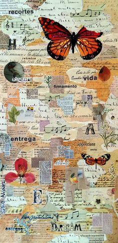 A carta - collage sobre MDF - 2015 - colagem de Silvio Alvarez - arte, art, collage, colagem, collage art, collage artist, paper, papel, revistas, recortes, sustentabilidade, reciclagem, reaproveitamento, arte ambiental, brazilian art, silvio Alvarez, surrealism, surrealismo, surreal, collagework, borboletas, butterflies, butterfly, borboleta, cartas, escrita, vintage, botanica, biologia, letras, palavras, transformacao, metamorfose