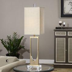"Found it at Wayfair - Genivolta 38.25"" H Table Lamp with Rectangular Shade"