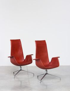 Preben Fabricius and Jorgen Kastholm pair Bird chairs | http://www.furniture-love.com/browse.php | From selection of important 20th century modern furniture.