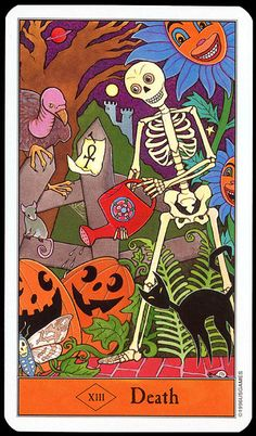 Halloween Tarot: Death by pageofbats, via Flickr