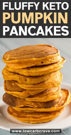 These sugar-free, pumpkin-spice panc… Easy low carb keto pumpkin pancakes recipe. These sugar-free, Ketogenic Recipes, Low Carb Recipes, Budget Recipes, Easy Low Carb Meals, Coconut Flour Recipes Keto, Keto Pancakes Coconut Flour, Cream Cheese Keto Recipes, Keto Cream Cheese Pancakes, Buttermilk Pancakes