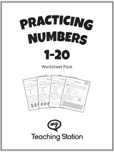 Practice counting, identifying, tracing, and writing numbers 1-20 with this printable worksheet pack.