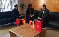 Moya-Angeler promociona la imagen de Murcia ante representantes chinos