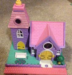 1993 Vintage Polly Pocket Wedding Chapel Pollyville Village Church Bluebird Toy No Figures on Etsy, $28.12 CAD