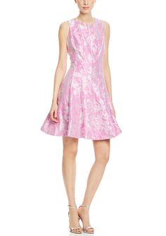 On ideel: JULIAN TAYLOR Sleeveless Floral Print Fit and Flare Dress