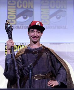 """Ezra Miller at ""Justice League"" Presentation during Comic-Con 2016 """