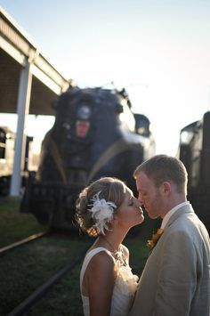 Transportation Museum Wedding!  Trains ;)  Photo By Lori Hedrick Photography