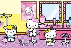 Hello Kitty Art, Hello Kitty Items, Sanrio Hello Kitty, Hello Kitty Halloween, Sanrio Characters, Fictional Characters, Little Twin Stars, Room Posters, Cute Drawings