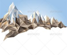 Buy Mountain Range by mart_m on GraphicRiver. Mountain range in origami style. Eps 10 and Ai CS 3 included. Origami Tattoo, Mountain Art, Mountain Range, Tattoo Mountain, Mountain Drawing, Mountain Style, Origami Owl Disney, Geometric Mountain, Geometric 3d