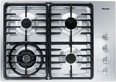 KM 3465 G - Gas cooktop with a dual wok burner for particularly wide ranging burner capacity.--NO_COLOR