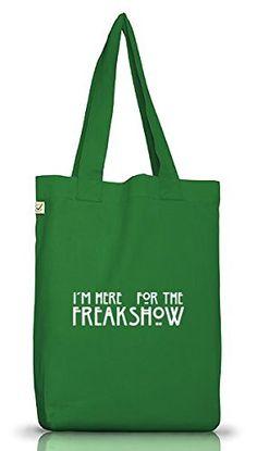 Shirtstreet24, AHS - Freak Show, Jutebeutel Stoff Tasche Earth Positive (ONE SIZE), Größe: onesize,Moss Green - http://herrentaschenkaufen.de/shirtstreet24/one-size-shirtstreet24-ahs-freak-show-jutebeutel-10