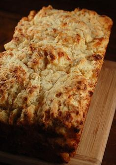 Cheesy Beer-Hard Cider Bread. We recommend Great Shoals Blazing Star Peach Cider