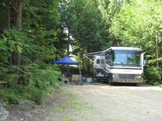 Meredith Woods Camping Area, New Hampshire. Open year-round, including an indoor pool.