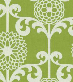 Home Decor Print Fabric-Waverly Fun Floret Spruce