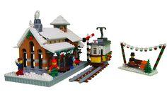 Winter Village Tram Station