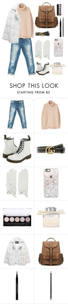 """""""beige winter [1]"""" by monocass ❤ liked on Polyvore featuring Sans Souci, MANGO, Dr. Martens, Gucci, Causse, Casetify, L.A. Colors, Chloé, Lilly e Violetta and Givenchy"""