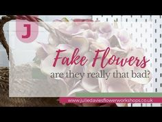 Are fake flowers really that bad? See what you think of the hydrangea and monstera leaves I bought. If you prefer fresh flowers how about treating yourself t. Fake Flowers, Diy Flowers, Flower Arranging Courses, I Dare You, Diy Wedding Flowers, Verse Of The Day, E 10, Flower Show, Work From Home Moms