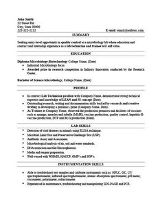 Resume For Lab Technician Resume Examples Electrician  Sample Resume And Resume Examples