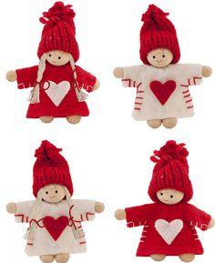 felt nordic mini people  christmas decorations