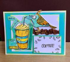 Fun design by Maura for the Simon Says Stamp Monday challenge (Coffee or Tea)