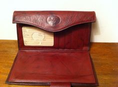 vintage buxton leather wallet with change purse $18