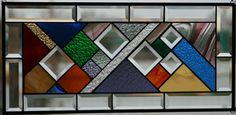 Twisted Stained Glass Window Panel by Lindaleeglass on Etsy, $100.00