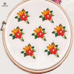 Handmade Embroidery Designs, Hand Embroidery Patterns Flowers, Basic Embroidery Stitches, Hand Embroidery Videos, Hand Embroidery Tutorial, Embroidery Flowers Pattern, Simple Embroidery, Embroidery Hoop Art, Embroidery Techniques