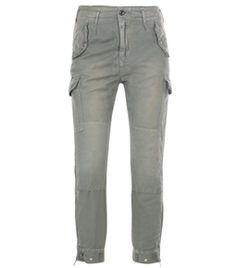 Cargo Pants by Closed. Khaki, washed cotton and linen, slim leg, cargo trousers. Slanted flapped buttoned side pockets. Flapped thigh pockets. Knee patches. Top button and zipped fastening. Belt loops. Buttoned back pockets. Zipped hem. #Matchesfashion