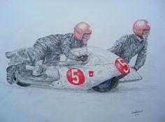 Hans-Peter Hubacker & Kurt Huber, Olivers Mount, Yorkshire, 1969. 14x17, graphite & color pencil, mar 3, 2015