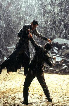 Keanu Reeves & Hugo Weaving in The Matrix Revolutions