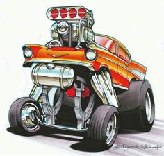 ( ☞ 2017 ☆ CARTOON HOT ROD ⛽. ) ☞