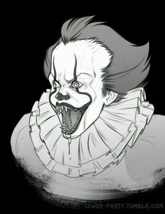 Pennywise the dancing clown It Pennywise, Pennywise The Dancing Clown, Le Clown, Old Portraits, Best Horror Movies, Arte Horror, Art Inspo, Coloring Books, Creepy