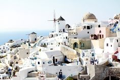 Santorini. How lovely. I can relax just looking at this picture.