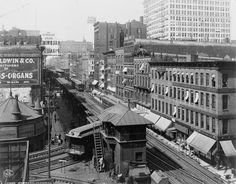 #Wabash #Union Consolidated Elevated Railroad -  Chicago