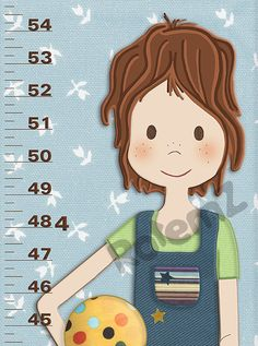 Growth Chart For Girls  Feet  Inches Or Metric  Personalized