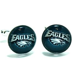 Cuff Links Philadelphia Eagles Football Nfl-silver-made In Usa-handmade-gift…