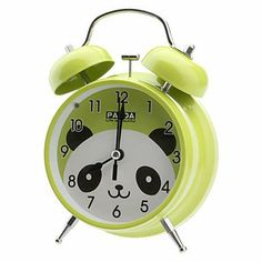 "3.6"" Cartoon Panda Pattern Round Dial Quartz Analog Alarm Clock (Green,1xAA) Clocks,http://www.amazon.com/dp/B00GD85HKQ/ref=cm_sw_r_pi_dp_wukotb0RPECH1K0R"
