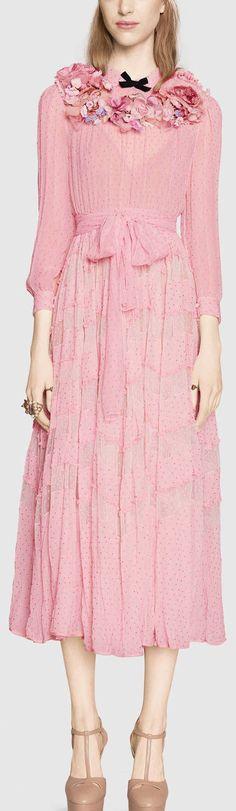Silk Plumetis Dress