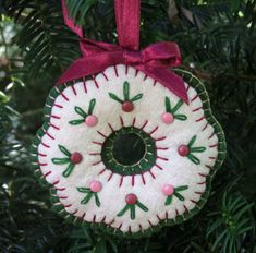 Image result for Felt Christmas Ornament Wreath