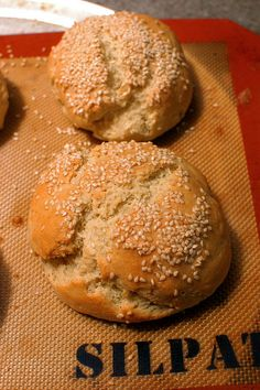 Gluten Free Hamburger Buns from the Gluten-Free Girl and the Chef Blog. Scroll ALL the way to the bottom of the page when you click on the link to find the hamburger bun recipe.