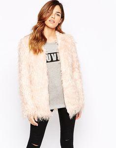 Rare Fluffy Faux Fur Jacket