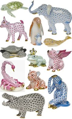 Herend animals...i would circle all of these in the catalogs my mom got when i was little...still cool!