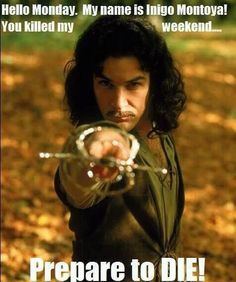 Honestly I didn't even think people my age even knew about the Princess Bride let alone Inigo Montoya. (I think that movie very strange) I Smile, Make Me Smile, Hilarious Memes, Funny Quotes, Funniest Memes, Movie Quotes, It's Funny, Movie Memes, Inigo Montoya