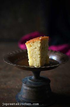Sweet Lime & Coconut Cake (Egg-less & Butter-less) / Mosambi Cake; use vegan yogurt